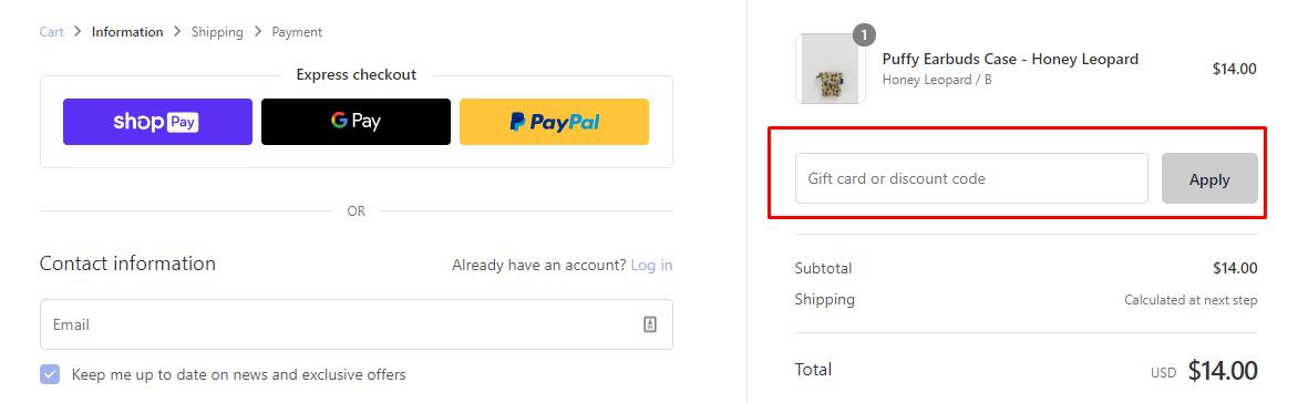 How do I use my BAGGU discount code?