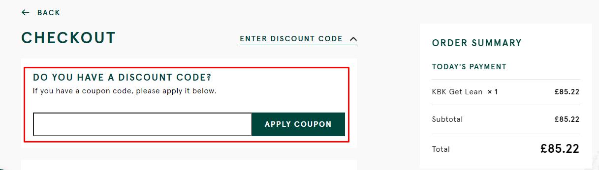 How do I use my KBK Meal Prep discount code?