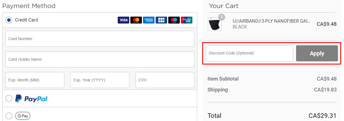How do I use my Airband discount code?