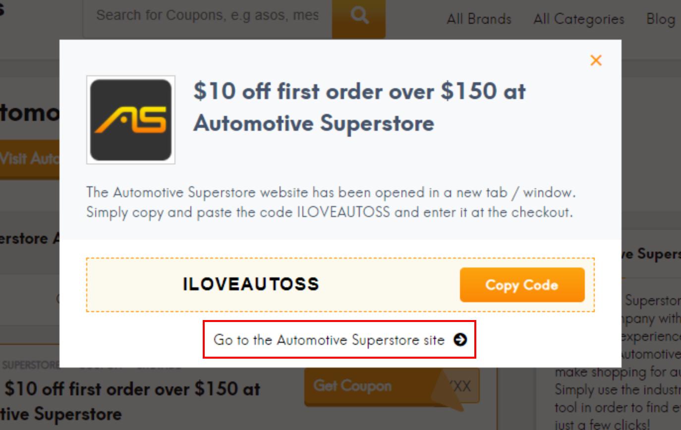 go to Automotive Superstore site