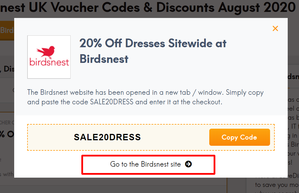 UK Birdsnest code