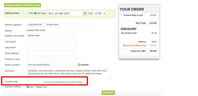 How do I use my Menulog discount code?