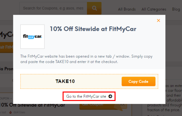 go to FitMyCar site