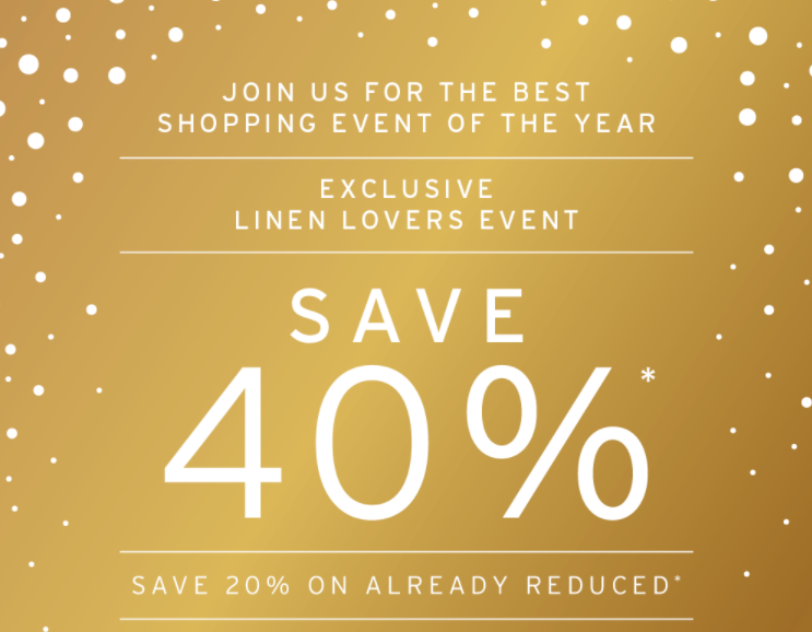 Exclusive Linen Lovers Event!