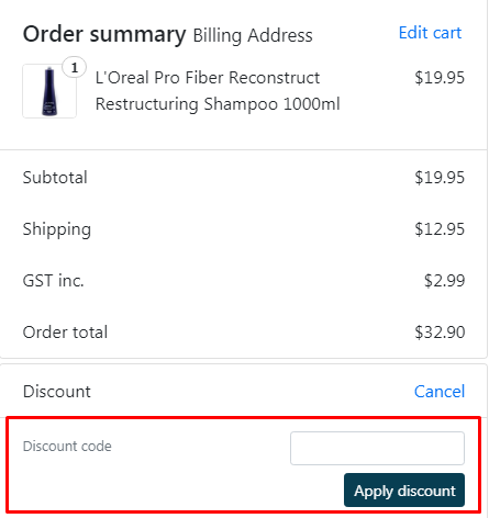 How do I use my Cosmetic Capital discount code?