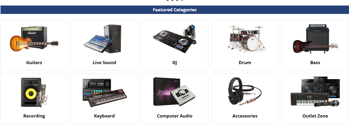 About American Musical Supply Homepage
