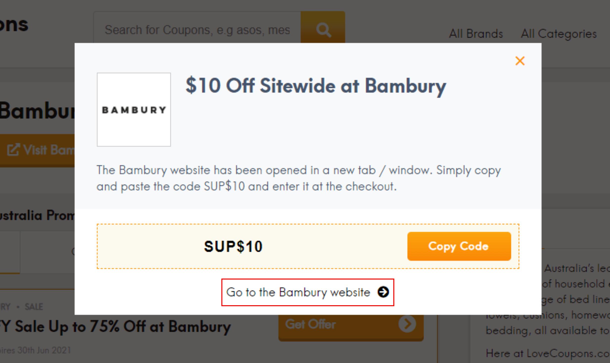 How do I use my Bambury discount code?