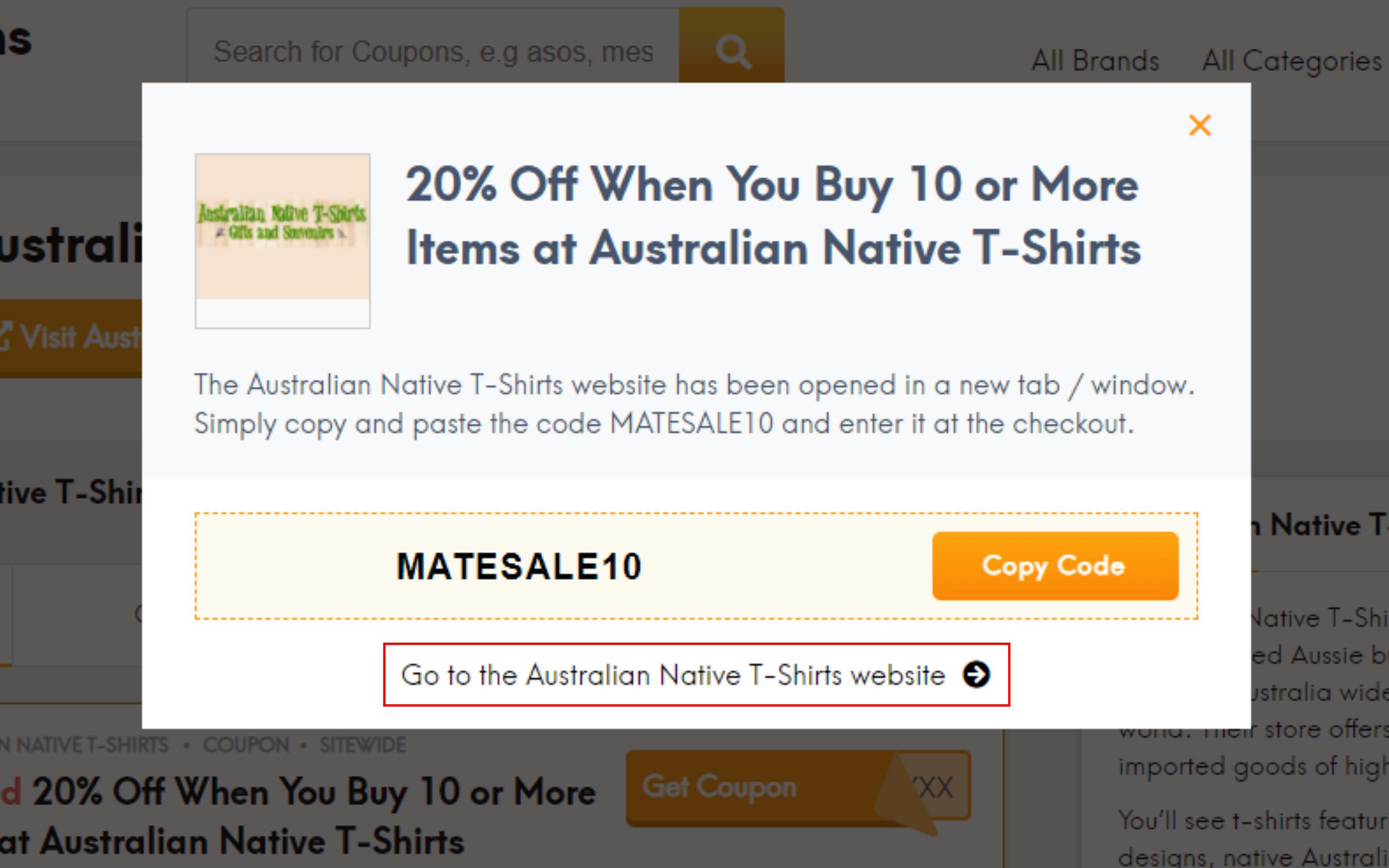 How do I use my Australian Native T-Shirts discount code?