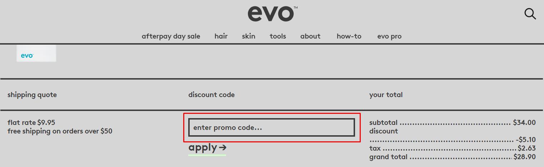 How do I use my Evo Hair promo code?