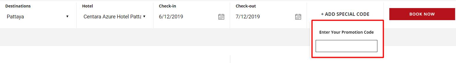 How do I use my Centara Hotels & Resorts discount code?