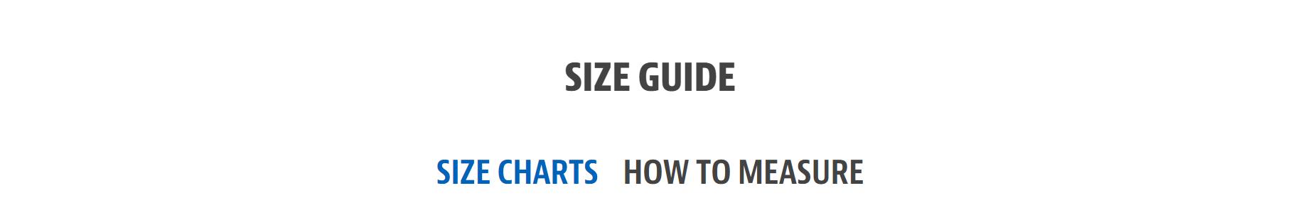 size guide Skechers