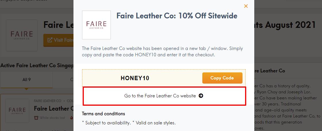 faire leather sg