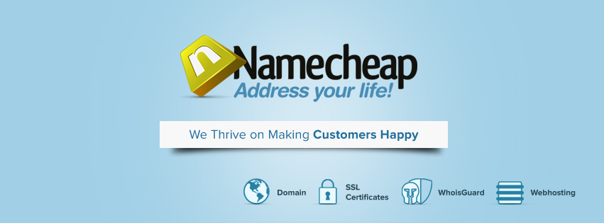 About namecheap Homepage