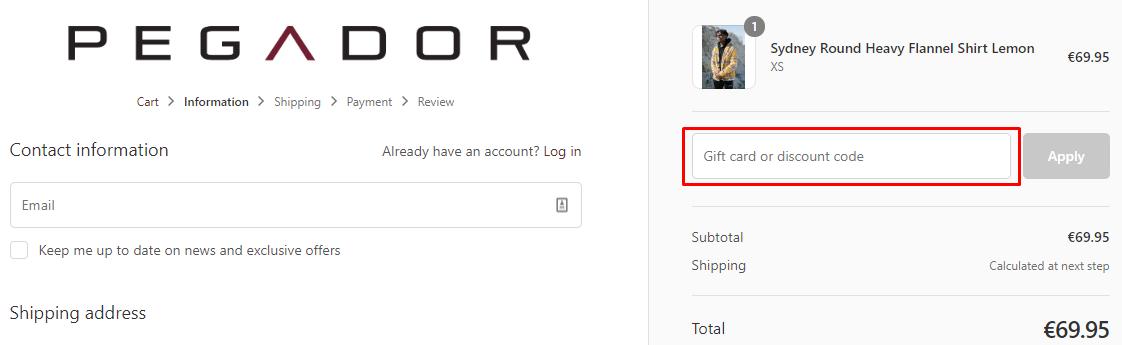 How do I use my Pegador coupon code?