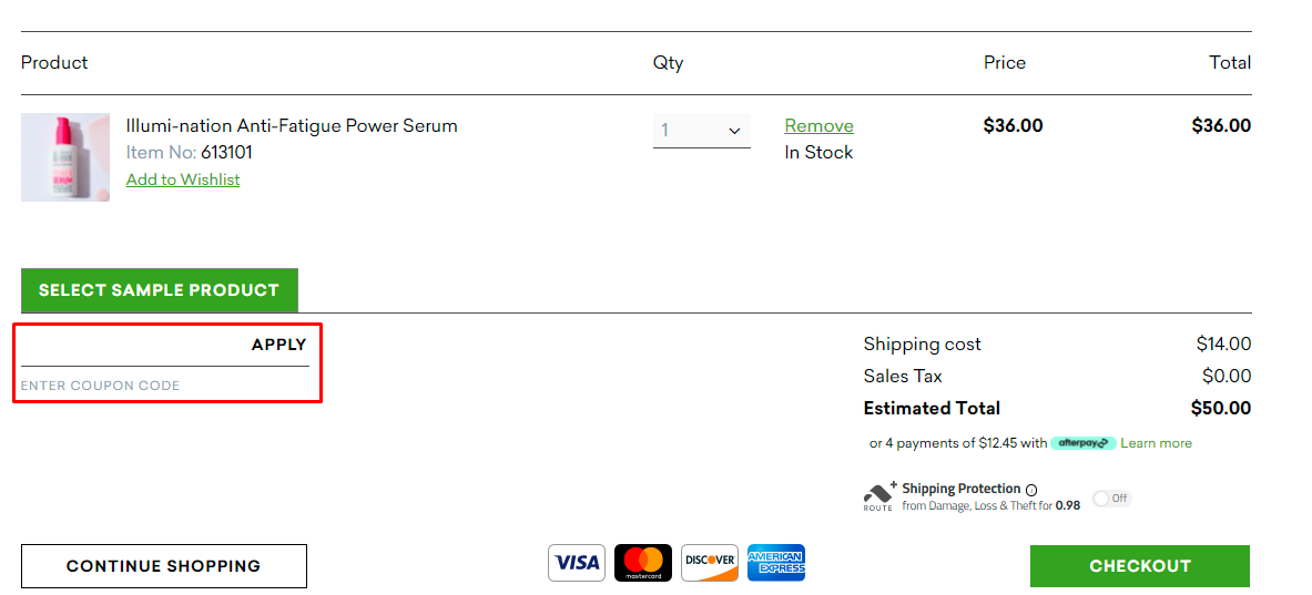 How do I use my Naturally Serious coupon code?