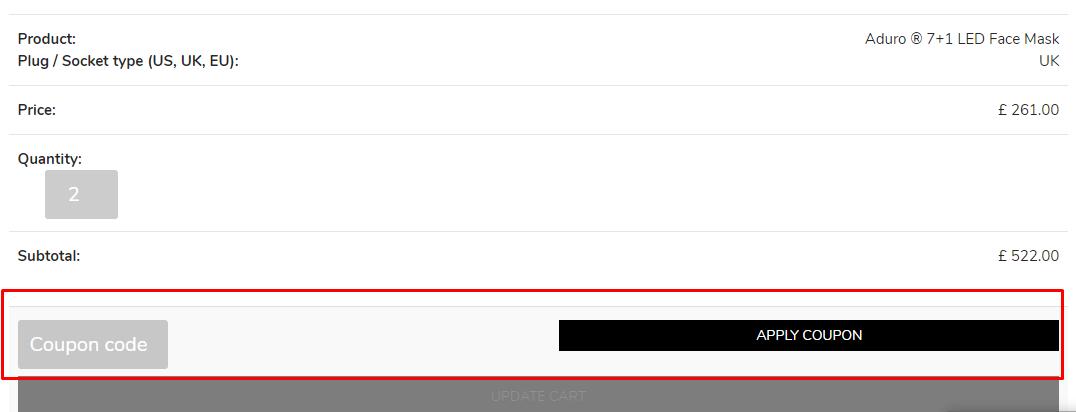 How do I use my Aduro discount code?