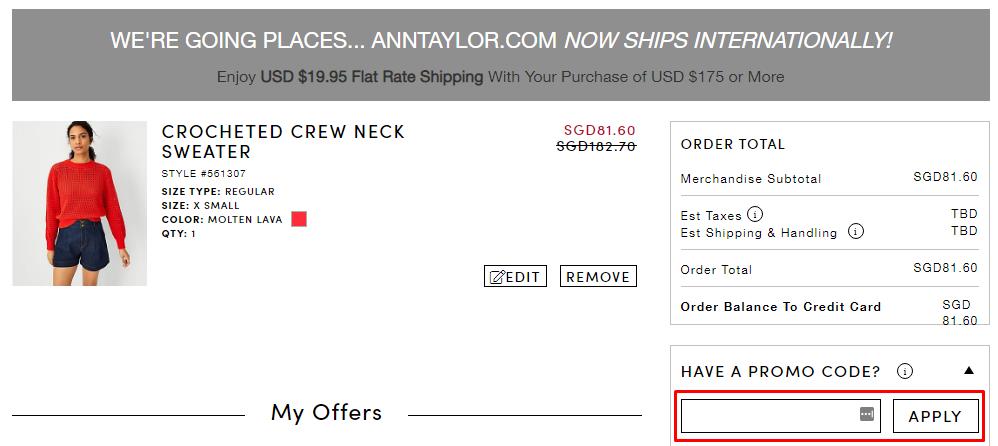 How do I use my Ann Taylor promo code?