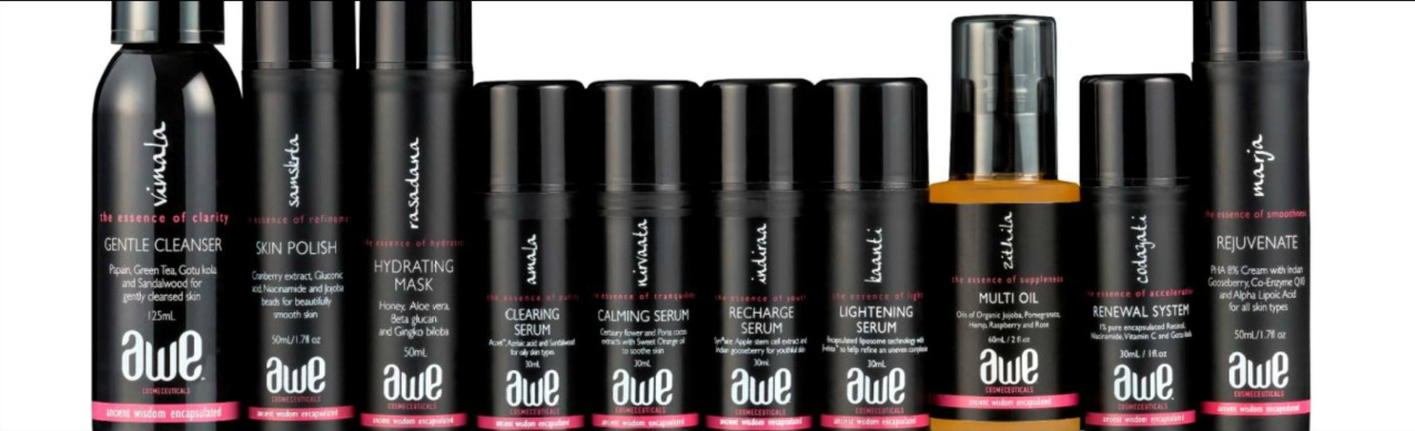 About AWE Cosmeceuticals Homepage