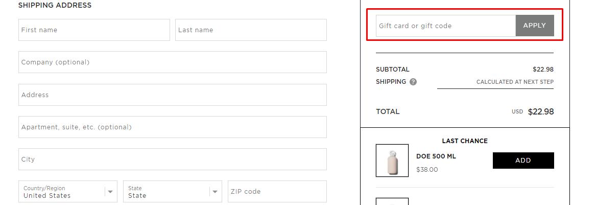How do I use my Bkr gift code?