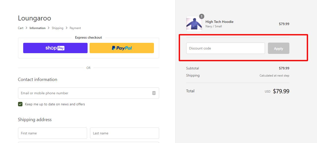 How do I use my LOUNGAROO discount code?