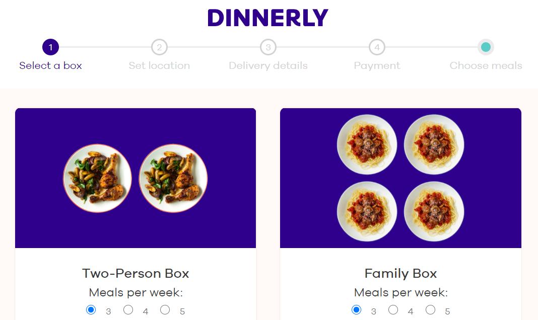 Dinnerly meal kit AU