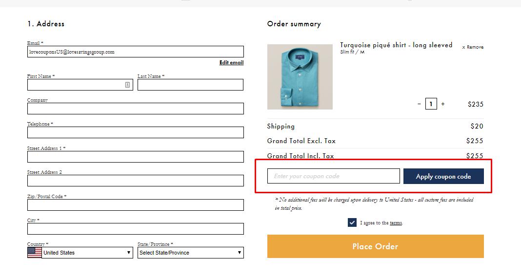 How do I use my Eton Shirts discount code?