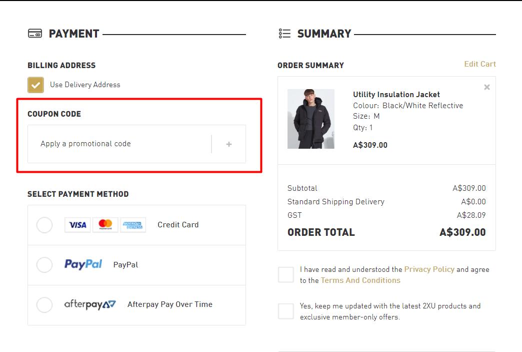 How do I use my 2XU discount code?