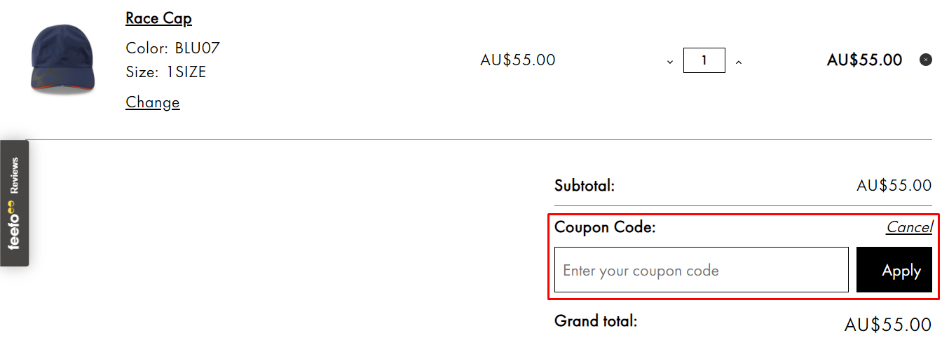 How do I use my Gill coupon code?