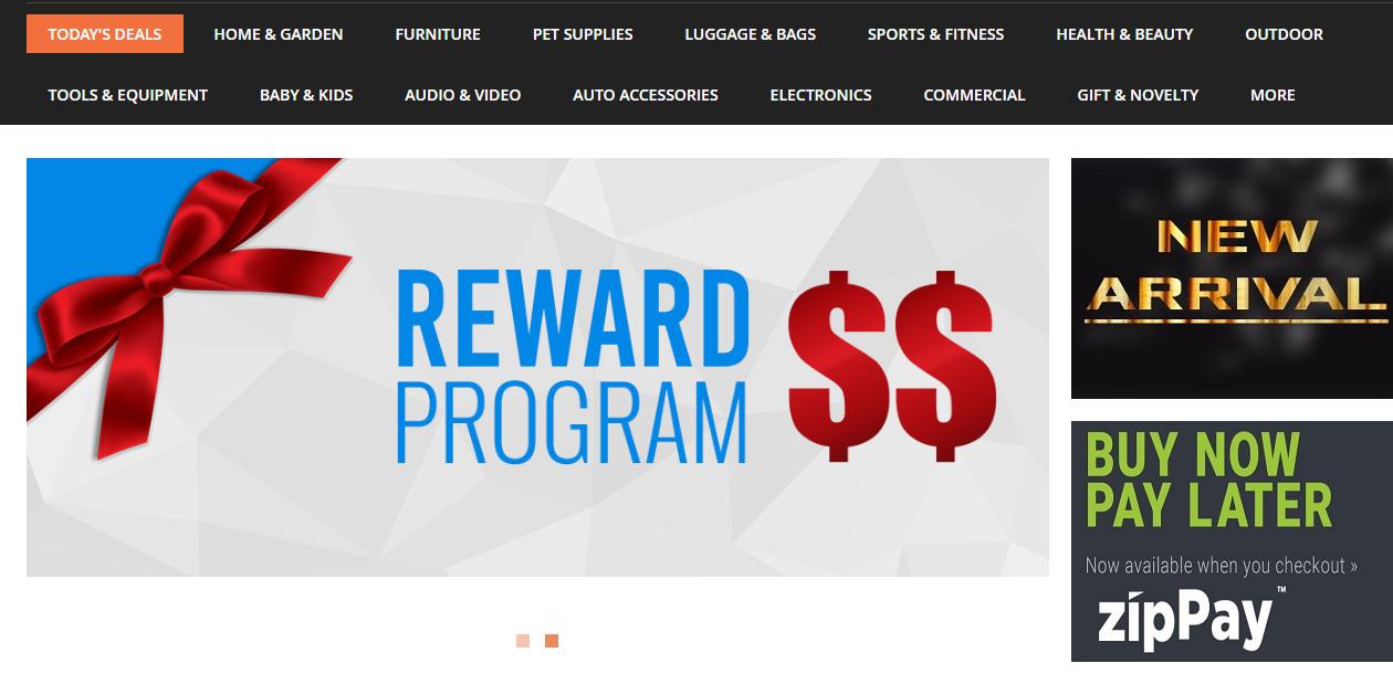 Big Discount Homepage