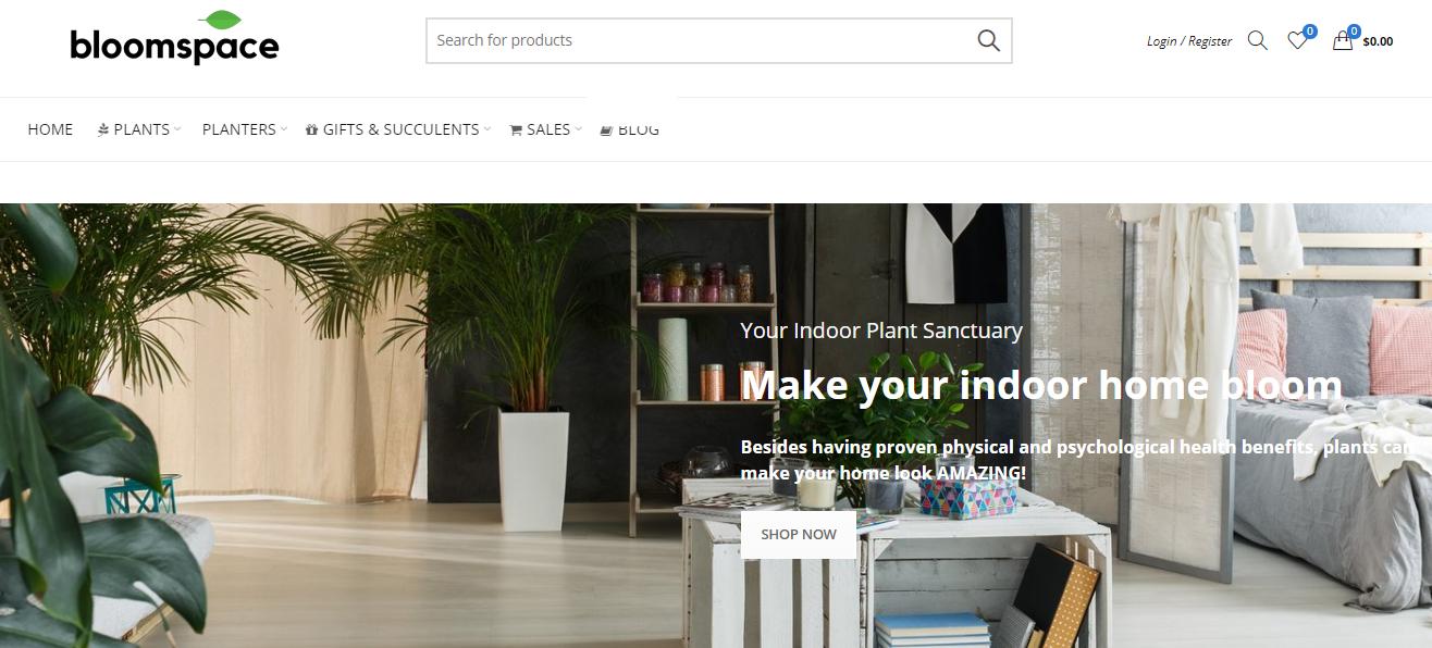 Bloomspace Homepage