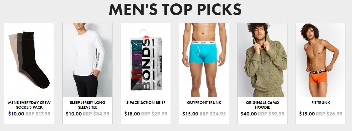 Bonds Men's Best Sellers