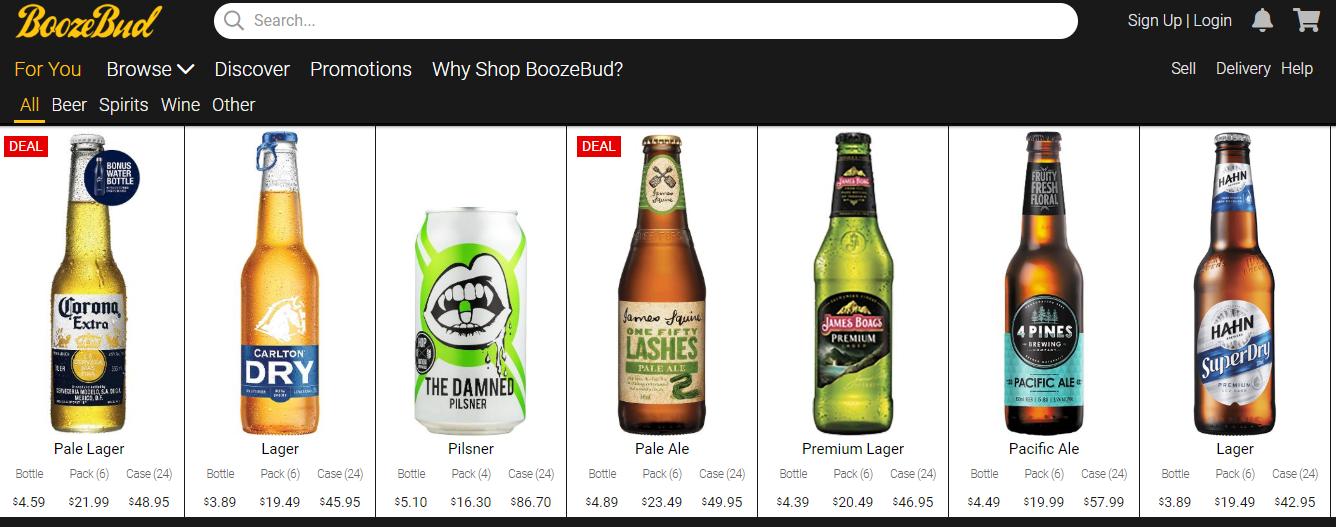 BoozeBud Homepage