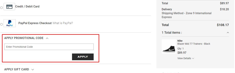 How do I use my Aphrodite promotion code?