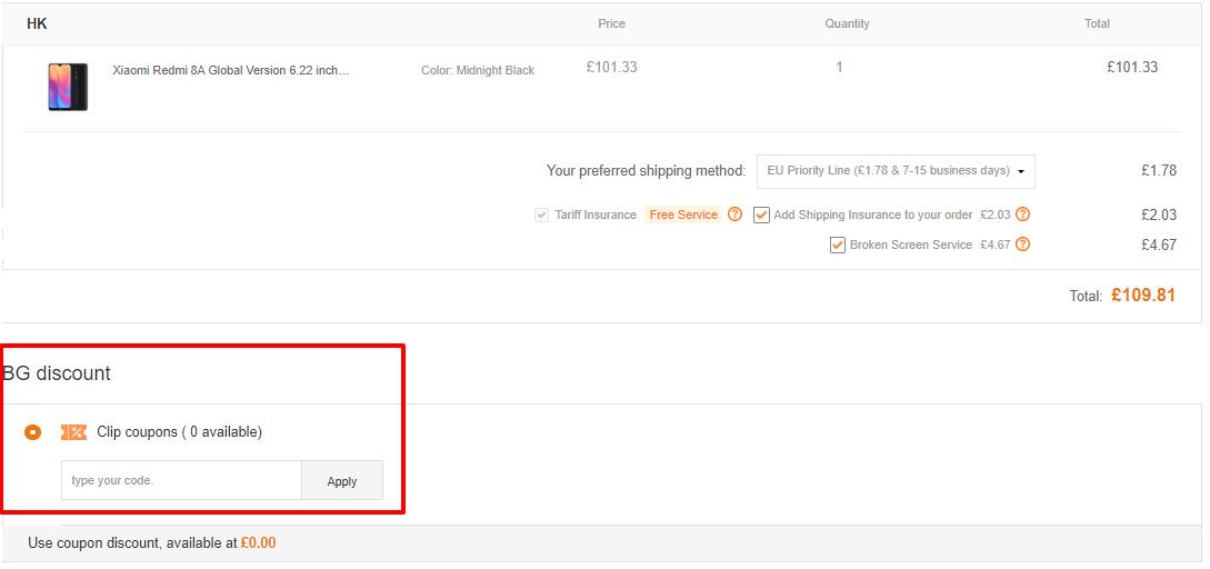 How do I use my BANGGOOD discount code?