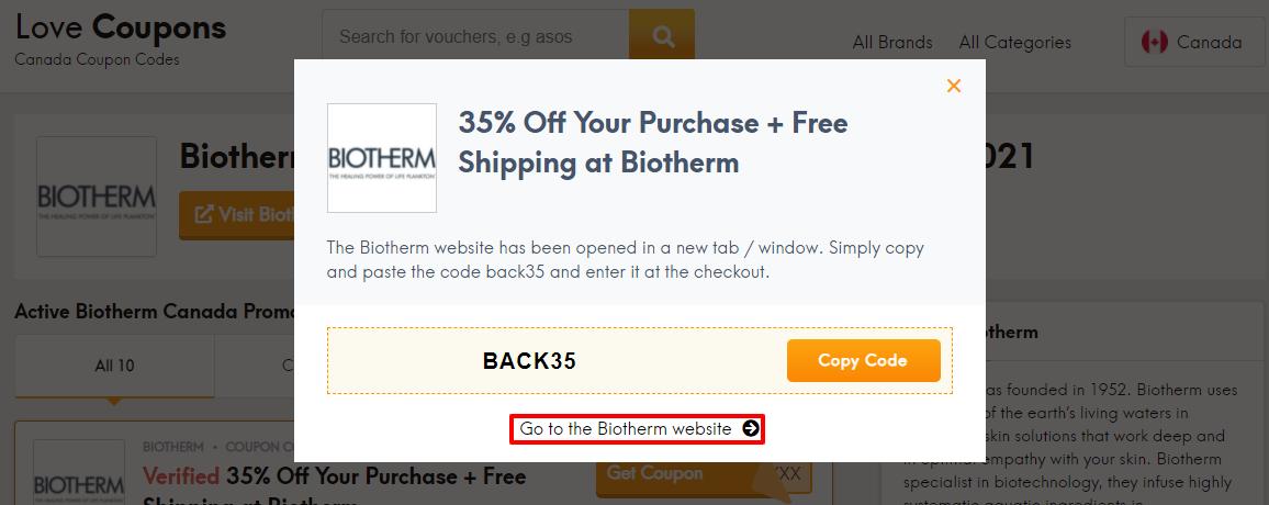 Biotherm Offer