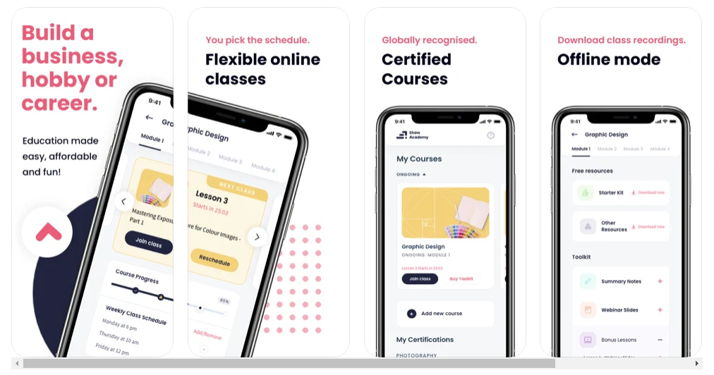 Shaw Academy Mobile App