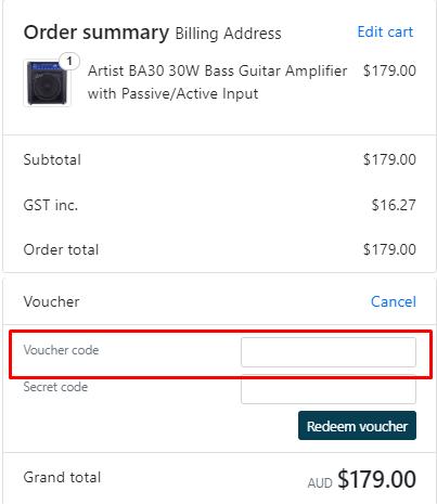 How do I use my Artist Guitars discount code?