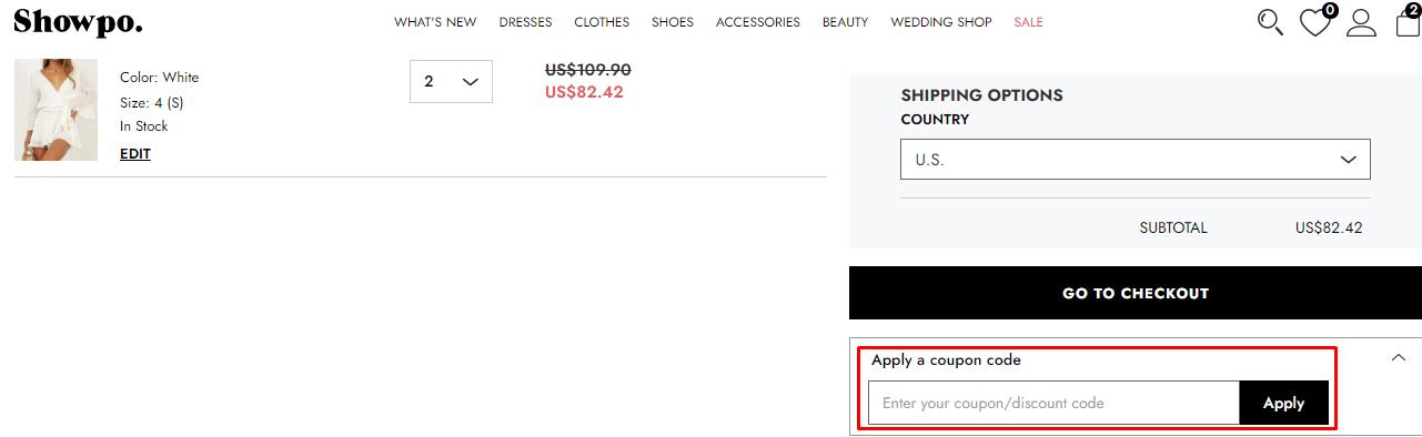 How do I use my Showpo coupon code?