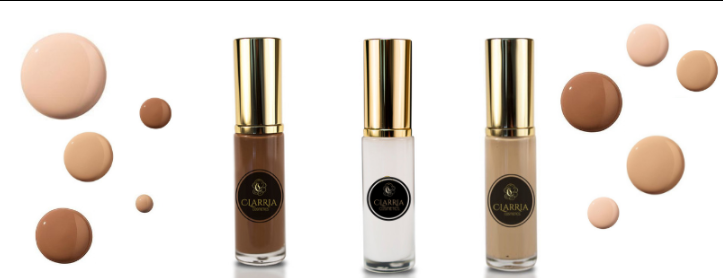 About Clarria Cosmetics homepage