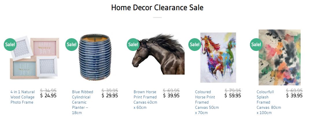 Home Decor Clearance Sale