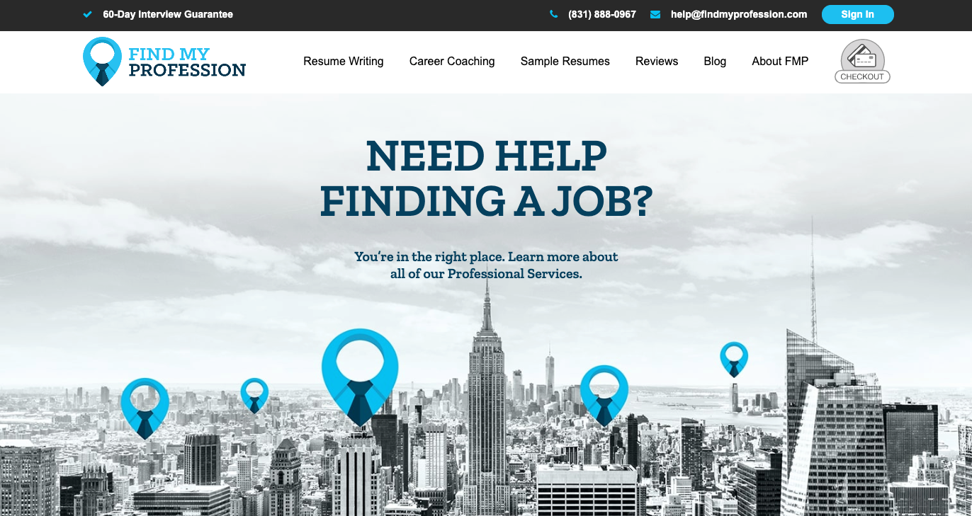 About Find My Profession Homepage
