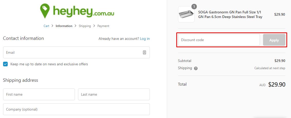 How do I use my HeyHey discount code?