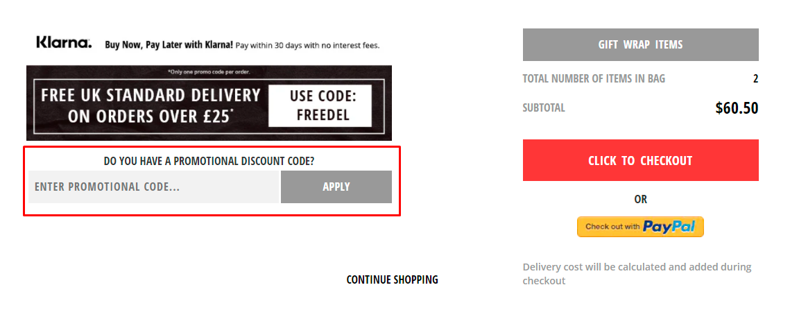 How do I use my Fragrance Direct promotional code?