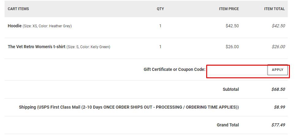How do I use my Thatsmyshirt.com coupon code?