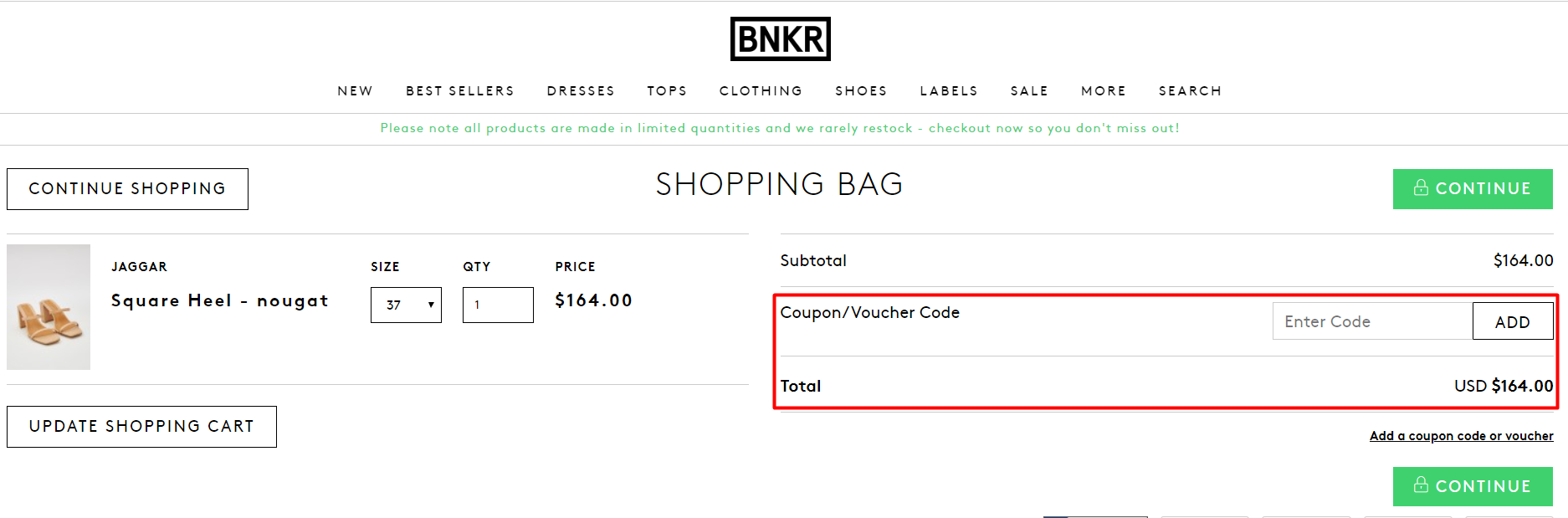 How do I use my BNKR discount code?