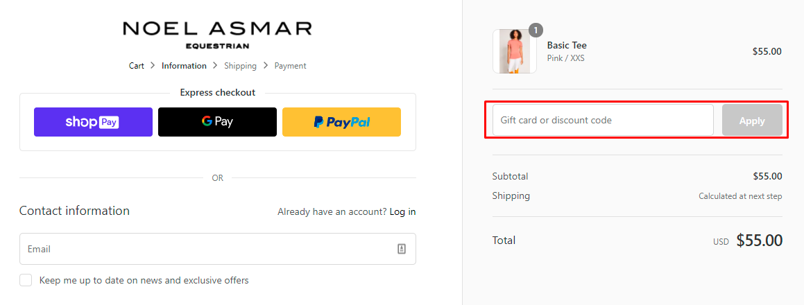How do I use my Asmar Equestrian discount code?