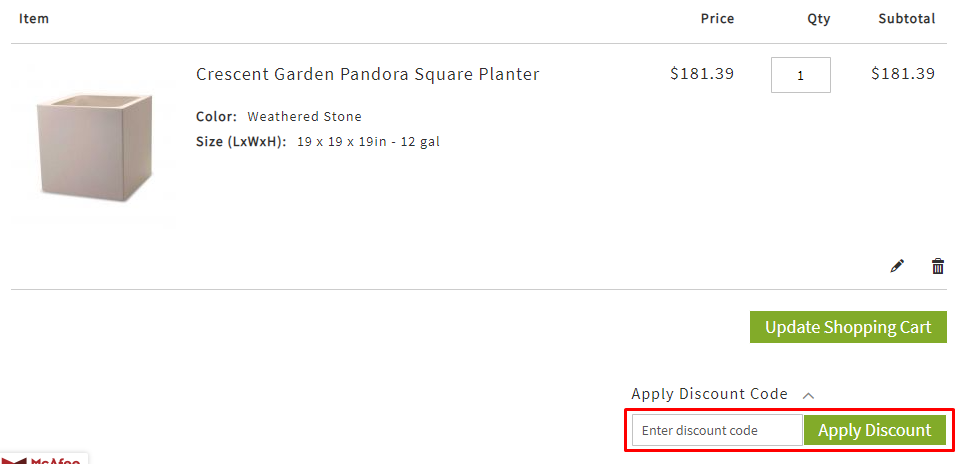 How do I use my ePlanters discount code?