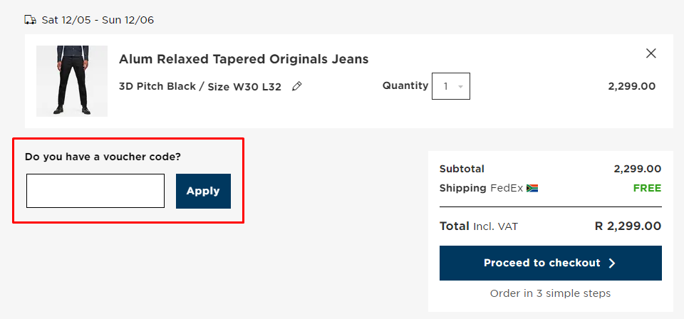 How do I use my G-Star RAW voucher code?