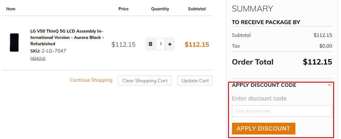How do I use my fixez.com discount code?