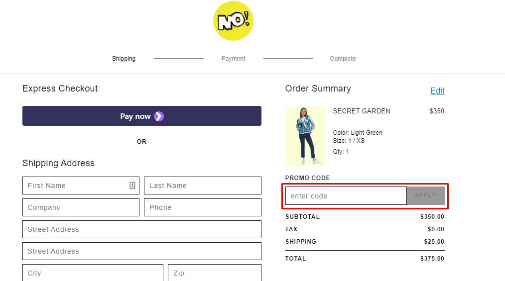 How do I use my NO! Jeans promo code?
